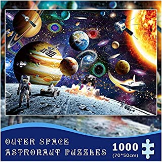 Space Puzzles Jigsaw Puzzles 1000 Piece for Adults Planets in Space Jigsaw Puzzles for Kids Children Jigsaw Floor Puzzle DIY Adult Kids Outer Space Astronaut Puzzles Grown up Puzzles Educational Games