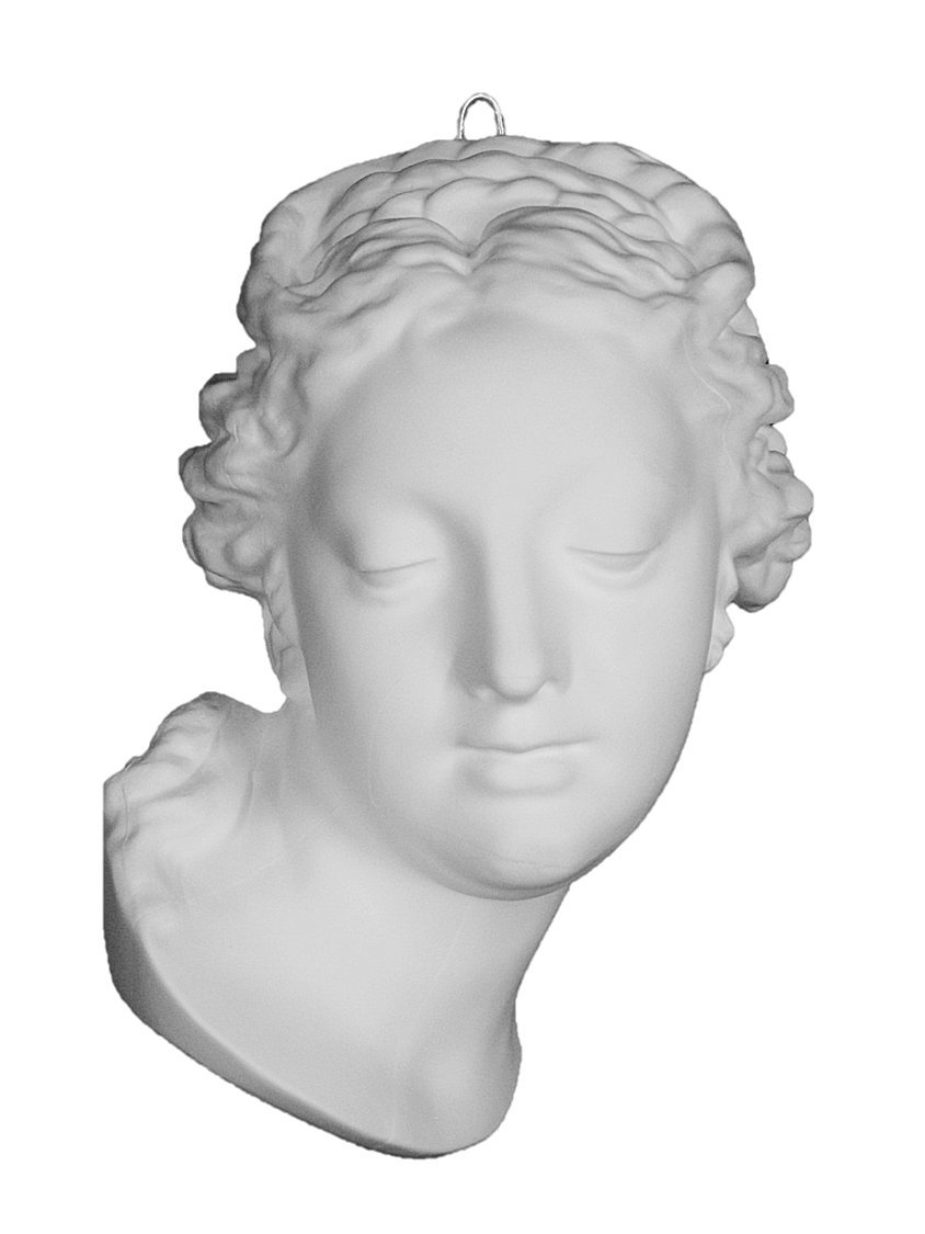 石膏像 M-401 フランス少女半面 H.36cm B008F7SWGY