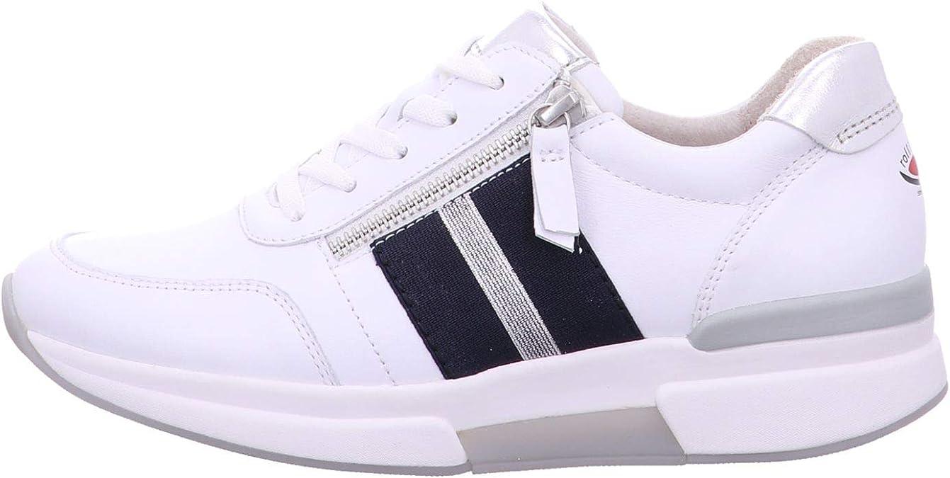 Gabor rollingsoft Sneaker in Übergrößen Weiß 46.465.50 große Damenschuhe