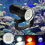 15x XM-L2+6x R+6x B 20000LM LED Photography Video Scuba Diving Flashlight Torch Durable