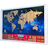 """World Cup 2018 Scratch Off Map - Brackets Poster Soccer Wall Chart Russia Qualifiers Commemorative Football Keepsake Travel Memorabilia Large Size 33.25""""x23.5"""""""