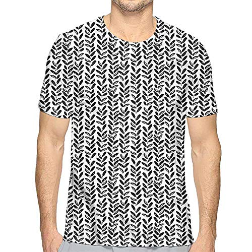 Jinguizi Funny t Shirt Black and White,Paint Motif Men's and Women's t Shirt L]()