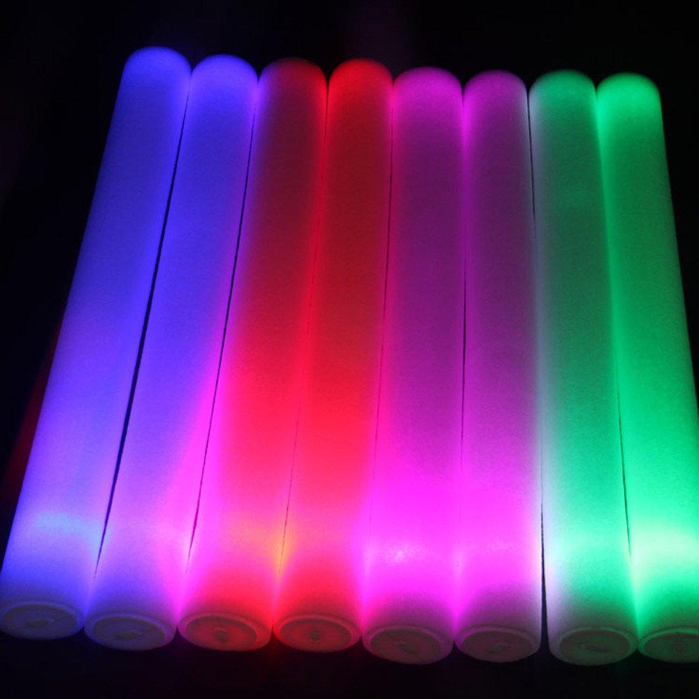 Wenini LED Foam Sticks Toy - Light Up Foam Sticks Glow Party LED Flashings Vocal Concert Reuseable Hot (White) by Wenini (Image #3)