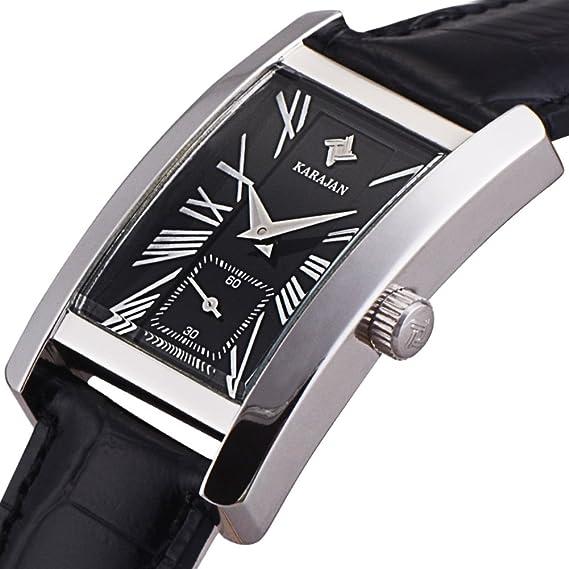 Romano Cuadrados Ver el cinturón/Moda Reloj Simple/Relojes de Cuarzo Resistente al Agua-B: Amazon.es: Relojes