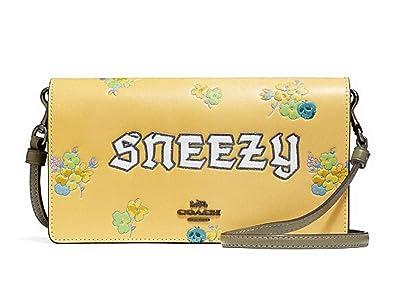 f4a7f4f706dd Coach X Disney Sneezy Foldover Crossbody -33048 - Sunflower Black ...