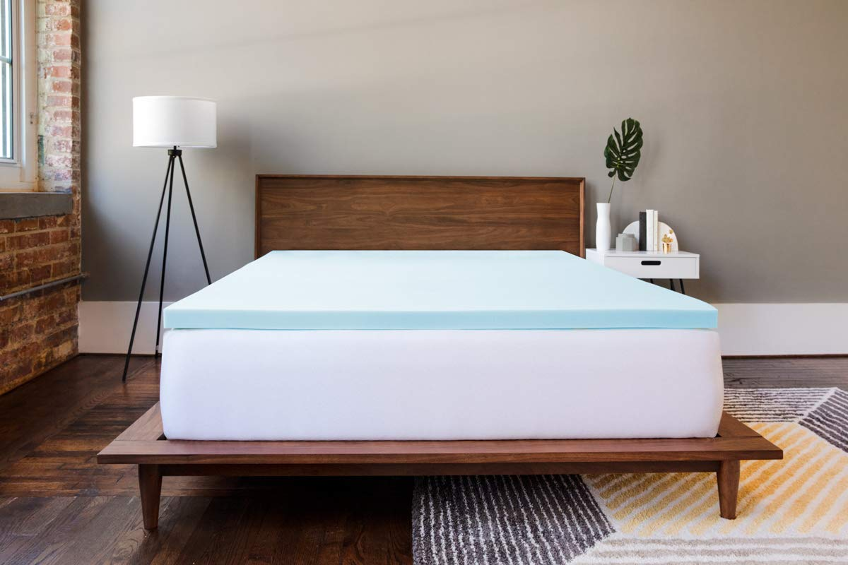 Made in USA COMIN16JU044901 Back Gel Infused for Temperature Regulation Amazing Cloud-Like Comfort and Robust Support for Side Stomach Sleepers ViscoSoft 2 Inch Gel Memory Foam King Mattress Topper