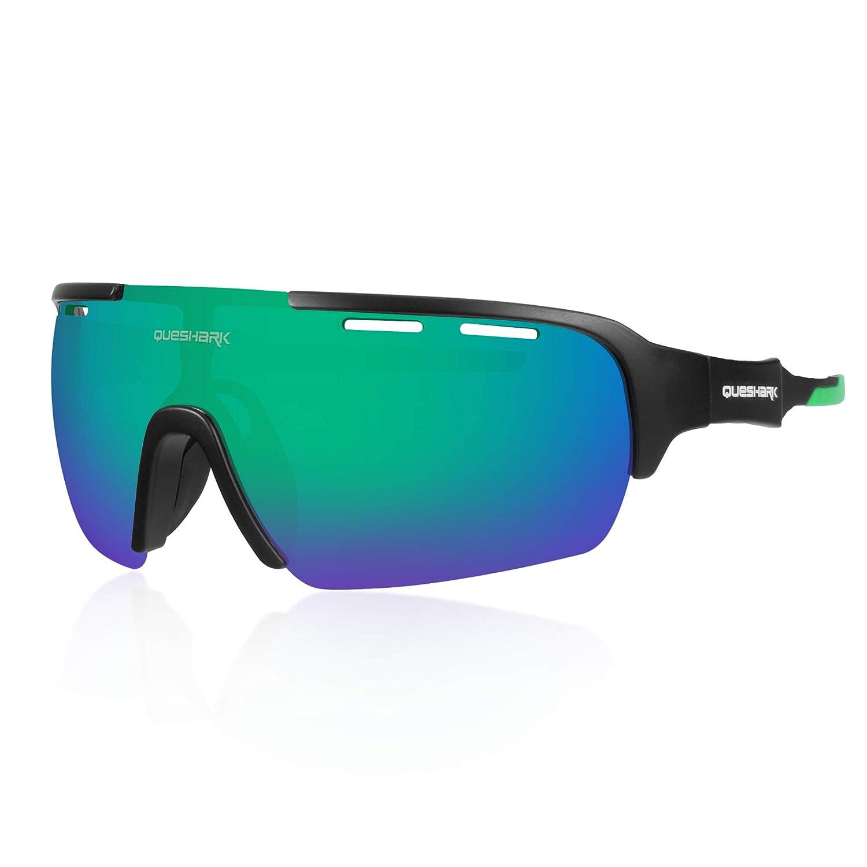 Queshark Gafas de Ciclismo para Hombre Mujer Bicicleta de ...