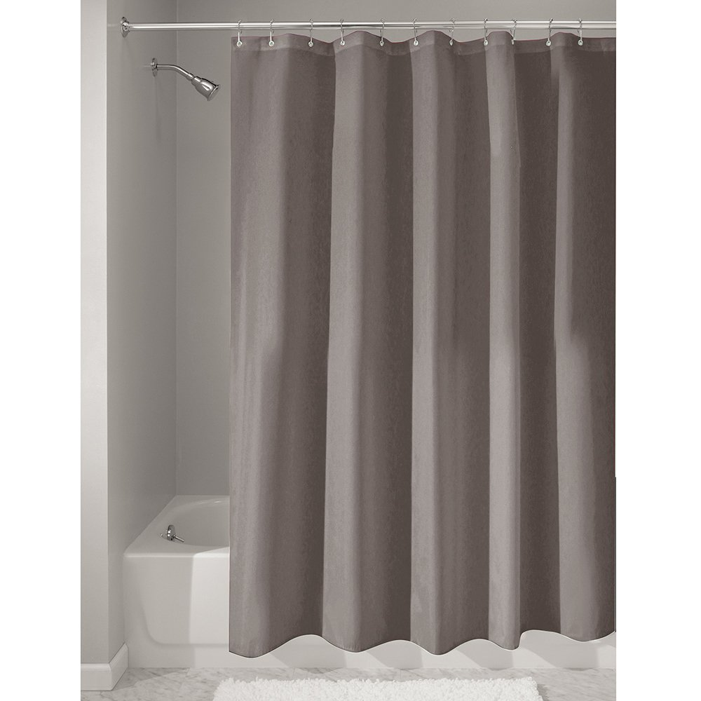 Amazon.com: InterDesign Mildew-Free Water-Repellent Fabric Shower ...