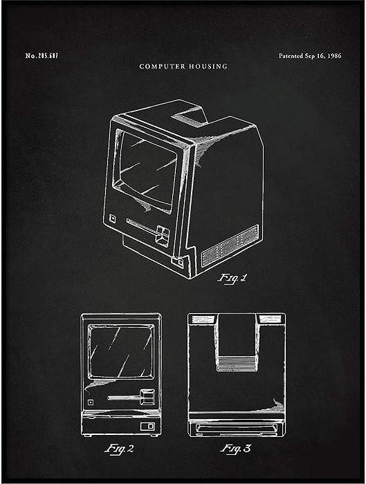 Apple Macintosh PC, Apple Blueprint, First Macintosh Art,Macintosh Computer,Computer Poster,Steve Jobs Art,Computer Patent, QP537