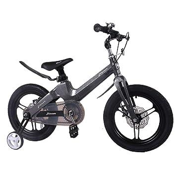 1-1 Bicicleta Niño Niña niños Ligero Aleación de magnesio Freno de Disco Doble Absorción de Golpes Altura Ajustable 16 Pulgadas Bicicleta,Black: Amazon.es: ...