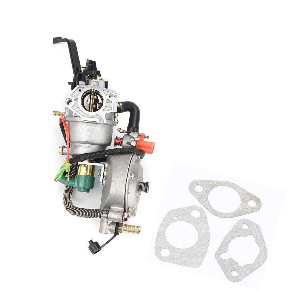 FidgetFidget Carburetor Dual Fuel LPG NG For Duromax XP10000EH 10000 Watts 18HP Generators
