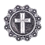 Wholesale Vocheng Cross Snap Charm 3 Colors 18mm DIY Jewelry Clasp Vn-102320 Pack of 20pcs (White)