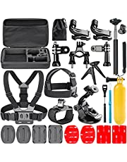 Neewer 21 in-1 Essential Outdoor Sport Accessory Kit for GoPro HD Hero4 Black/Silver Hero 1 2 3 3+ 4 SJ4000 Includes Telescoping Handheld Monopod Head Strap and other Asscessories