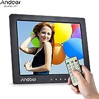 """Andoer 10"""" HD Digital Photo Frame Album Image d'écran 1080P MP4 Vidéo MP3 Audio TXT eBook Horloge Calendrier Support Lecture automatique + Télécommande infrarouge/Touche Tactile 7/14 Langue/Stand"""