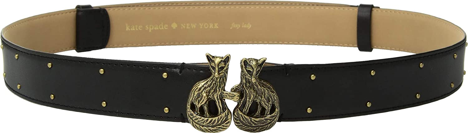 Kate Spade New York Women's 32mm Foxy Lady Belt Black SM/MD