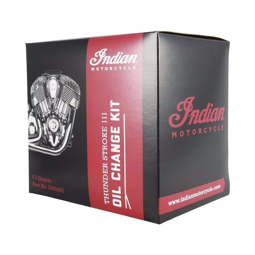Indian New OEM Motorcycle Oil Change Kit, Thunder Stroke, 5.5 Quart, 2880067 by Polaris