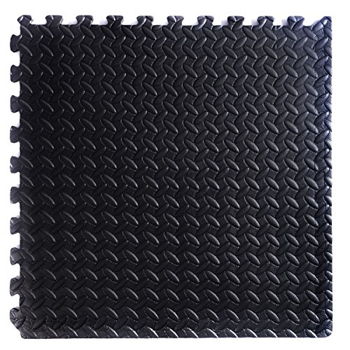 MyEasyShopping 48 Sq Ft EVA Foam Floor Interlocking Gym Mat