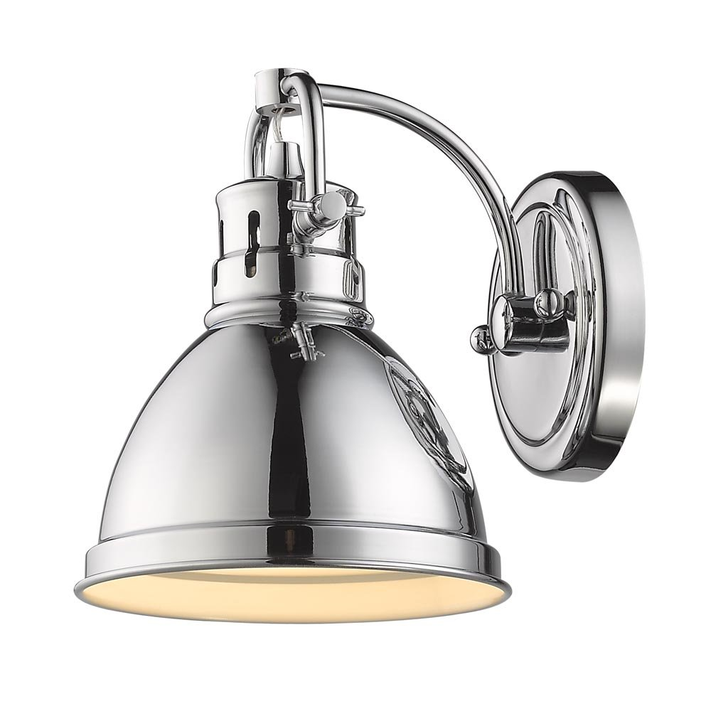 Golden Lighting 3602-BA1 CH-CH Duncan 1-Light Bath Vanity in Chrome with Chrome Shade