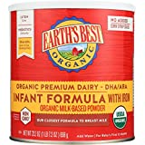 Earth's Best Organic Infant Powder Formula with Iron, Omega-3 DHA & Omega-6 ARA 23.2 Ounce (Packaging May Vary)