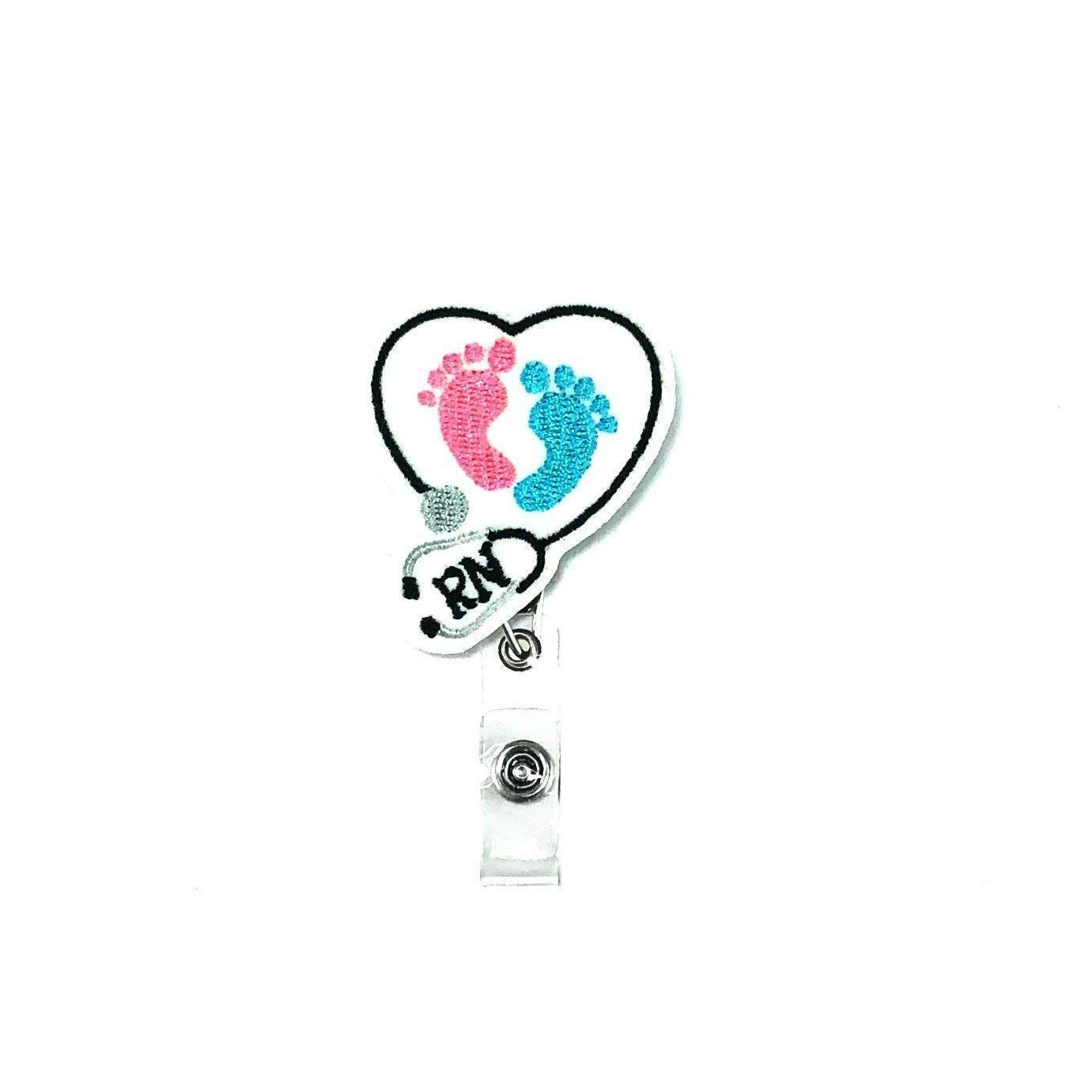 RN Badge Reel Holder for Name Tag ID
