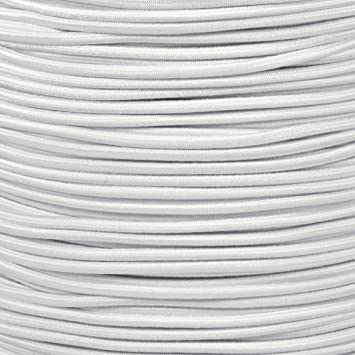 "USA 5//16/"" x 25/' Bungee Cord Shock Cord Bungie Cord Marine Grade Stretch Cord WHT"