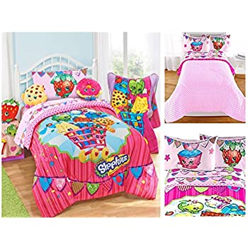Amazon Com Shopkins Kids 5 Piece Bed In A Bag Full Size