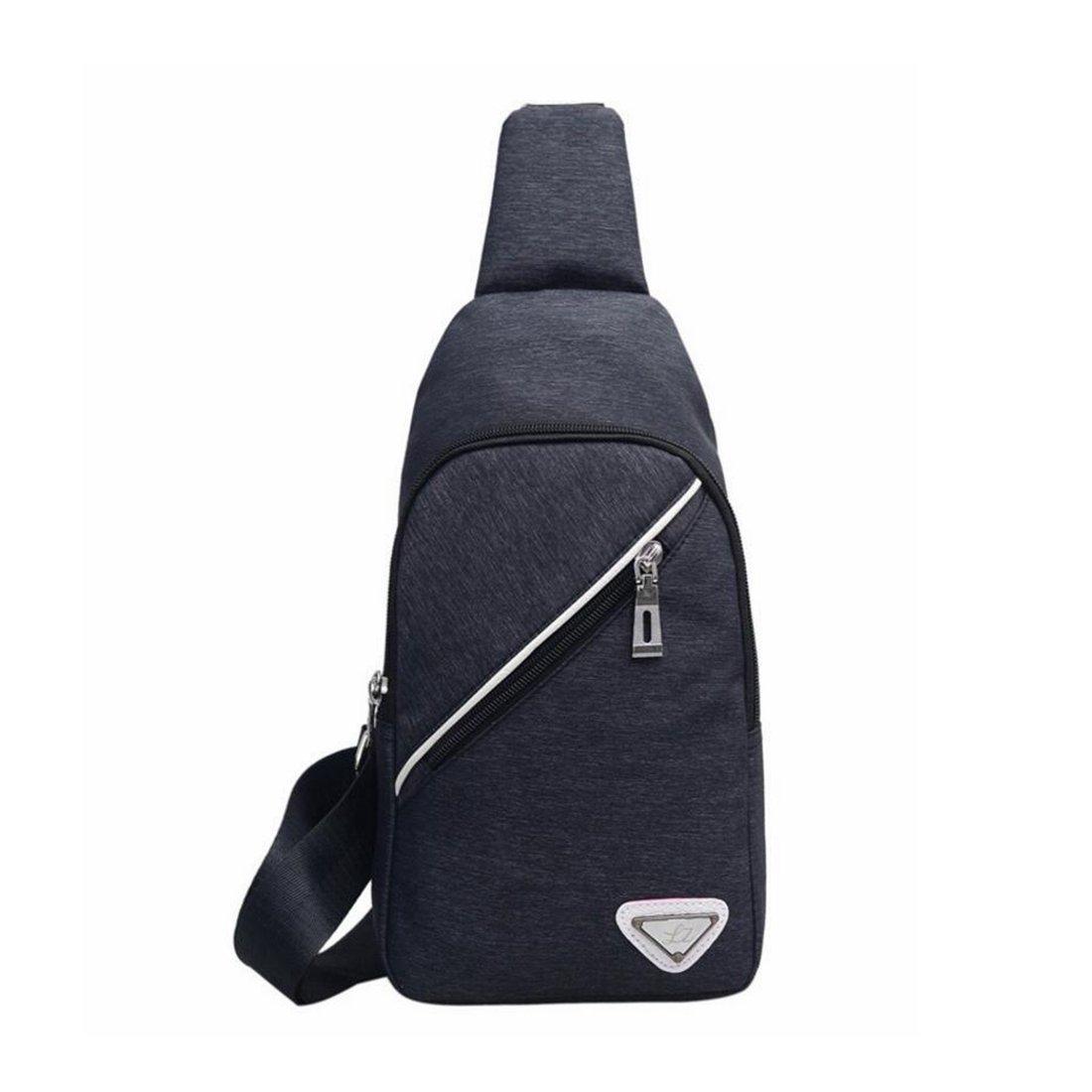 Color : Black 1 KRPENRIO Mens Sling Bag One Shoulder Backpack Crossbody Chest Bag for Hiking Camping