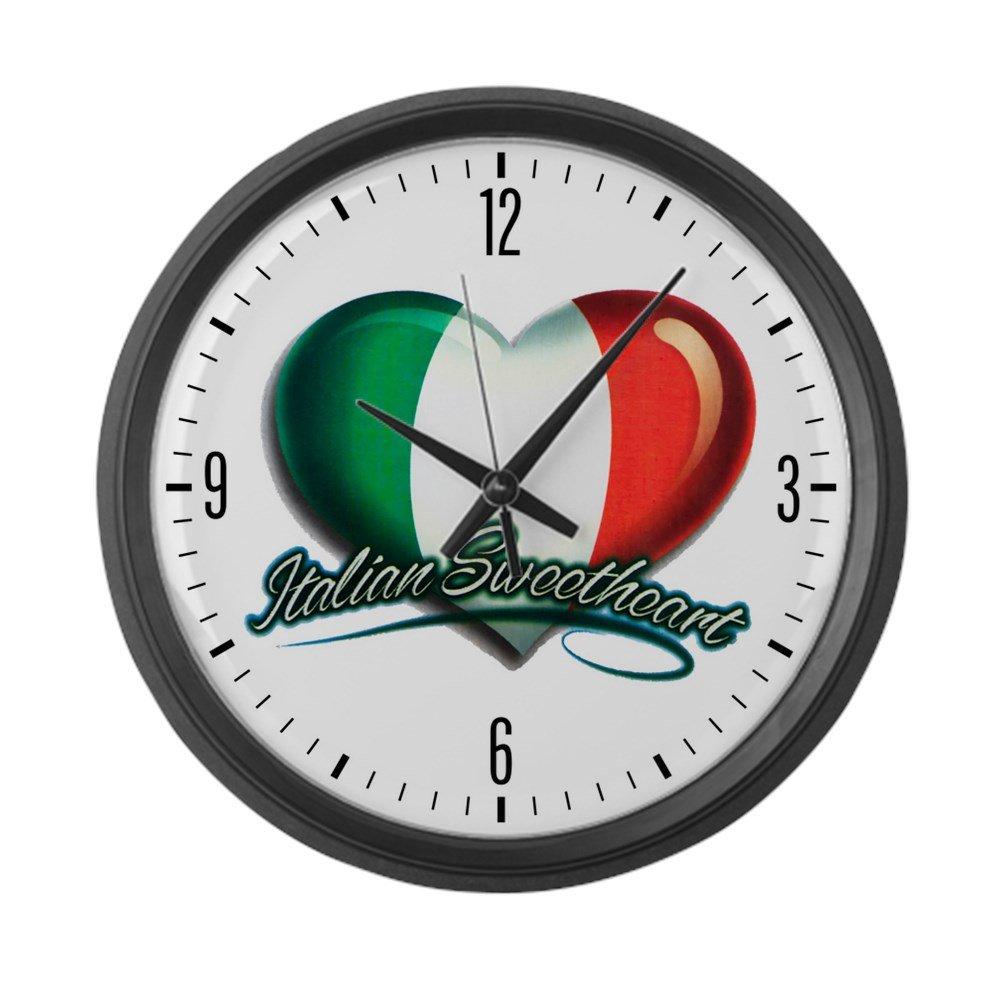 Large Wall Clock Italian Sweetheart Italy Flag