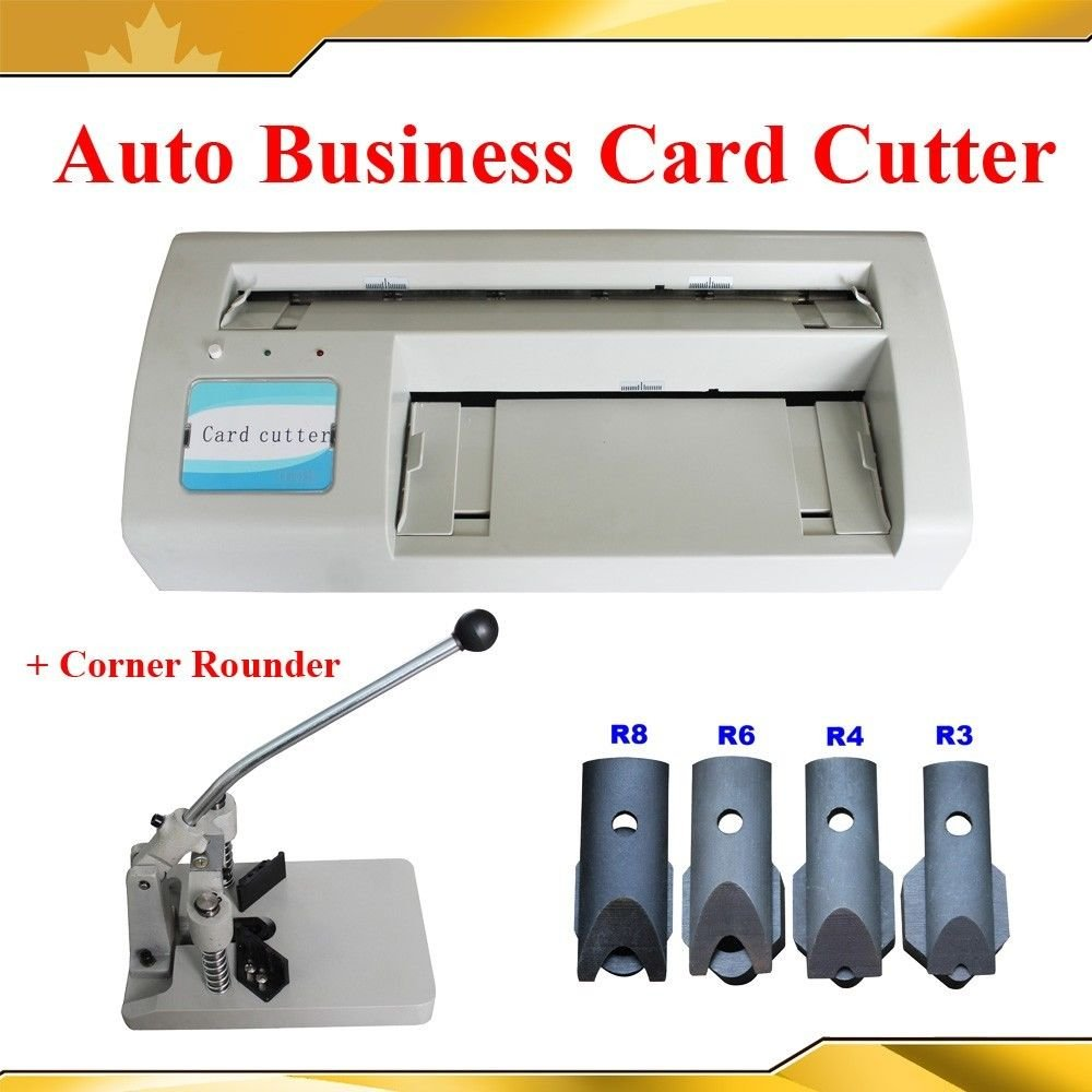 Electric Business Card Slitter +Corner Rounder Machine R3/4/6/8/10 by Business Card Making