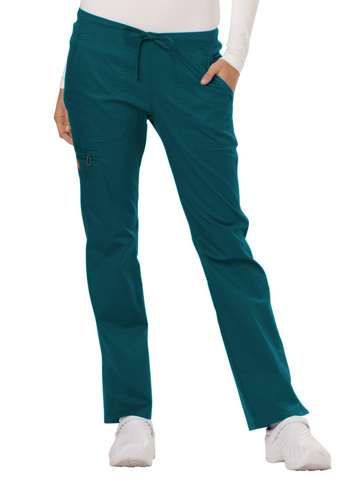 Dickies Gen Flex Women's Low Rise Straight Leg Scrub Pant Large Tall Caribbean
