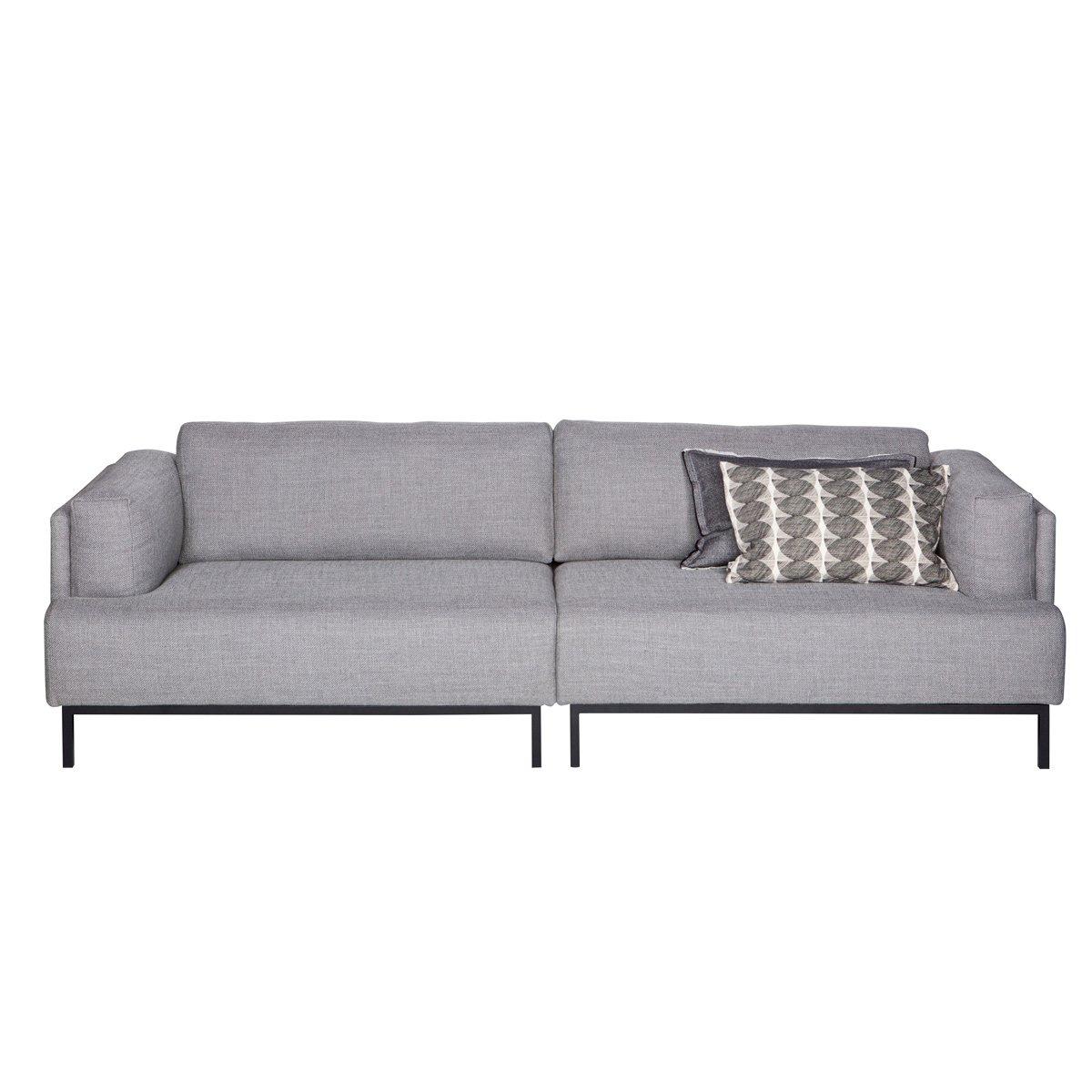 lounge-zone Sofa Couch 3-Sitzer UMA Metallgestell Stoffbezug Breite 250cm grau 14012