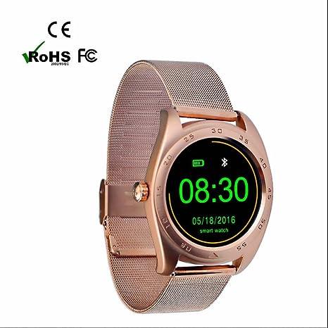 Reloj Inteligente con Pulsómetro Teléfonos Inteligentes Reloj con Llamada SMS Recordatorio Podómetro Monitor de Sueño Soporta