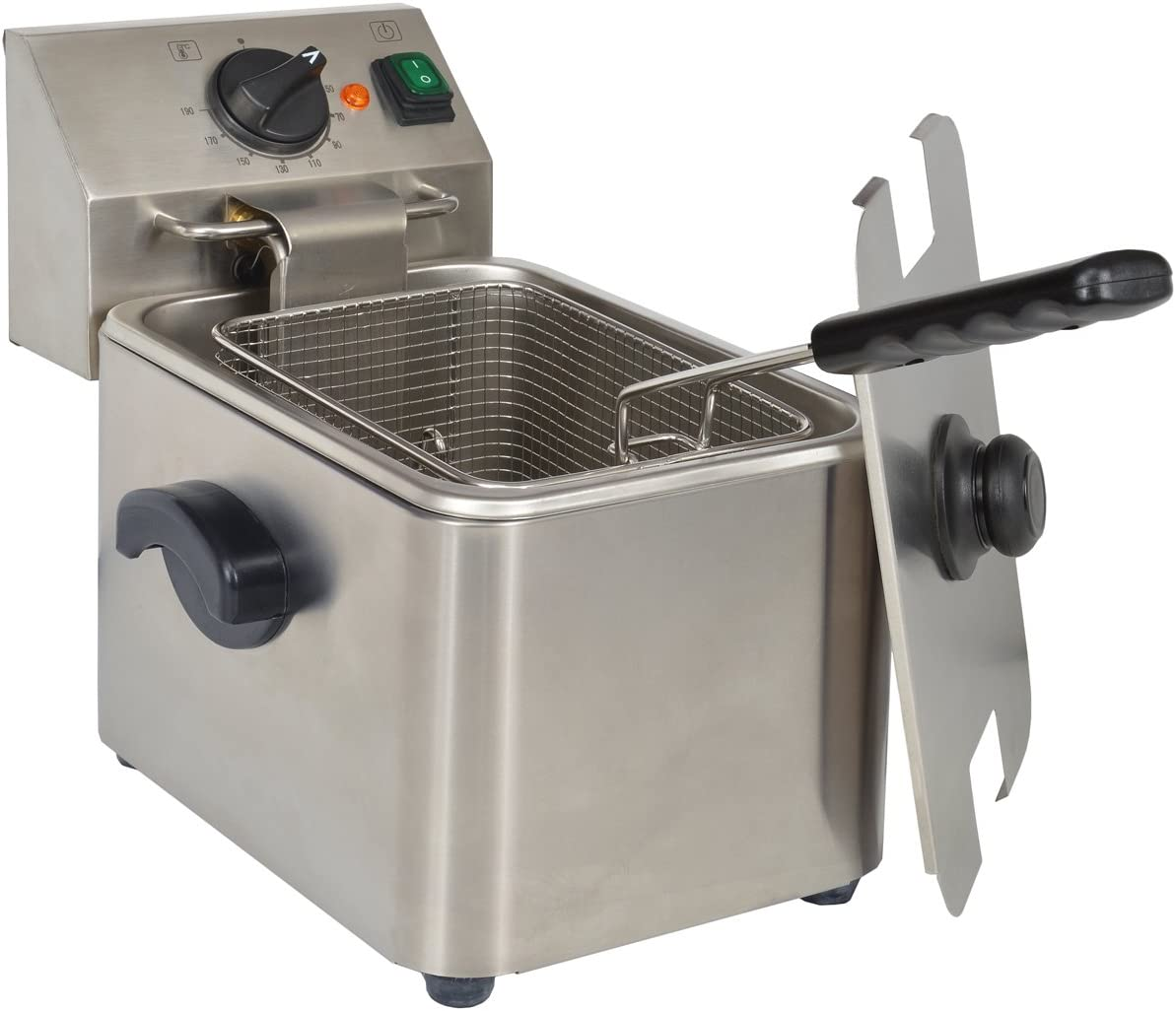 KitchenChef HDF4 Solo Independiente 4L 2500W Acero inoxidable ...