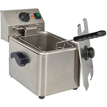 KitchenChef HDF4 Solo Independiente 4L 2500W Acero inoxidable - Freidora (4 L, 1,2 kg, Solo, Acero inoxidable, Giratorio, Independiente): Amazon.es: Hogar