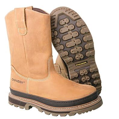 c900936c1e3 Amazon.com: Chinook Rancher Men's Tan Wellington Boots - Size 7.5: Shoes