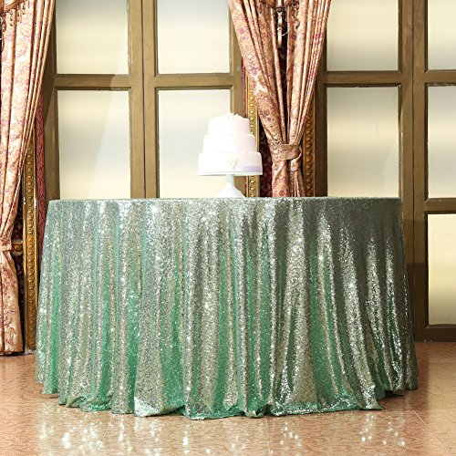Eternal Beauty Sequin Tablecloth, Sequin Table Linen (48