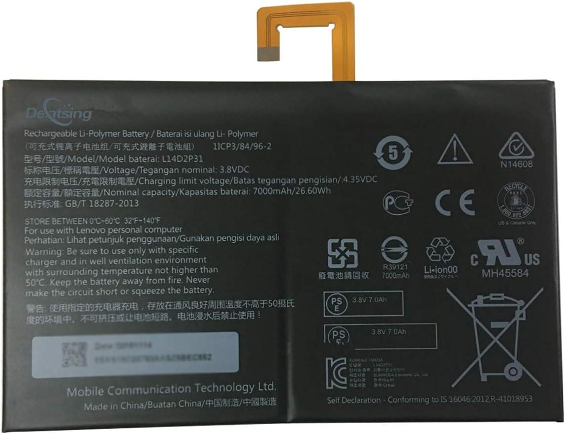 Dentsing L14D2P31 (3.8V 26.6Wh/7000mAh 2-Cells) Tablet Battery Compatible with Lenovo TAB 2 A10-30 TB2-X30F TB2-X30L TB2-X30M A10-70 A10-70F A10-70L Series Laptop
