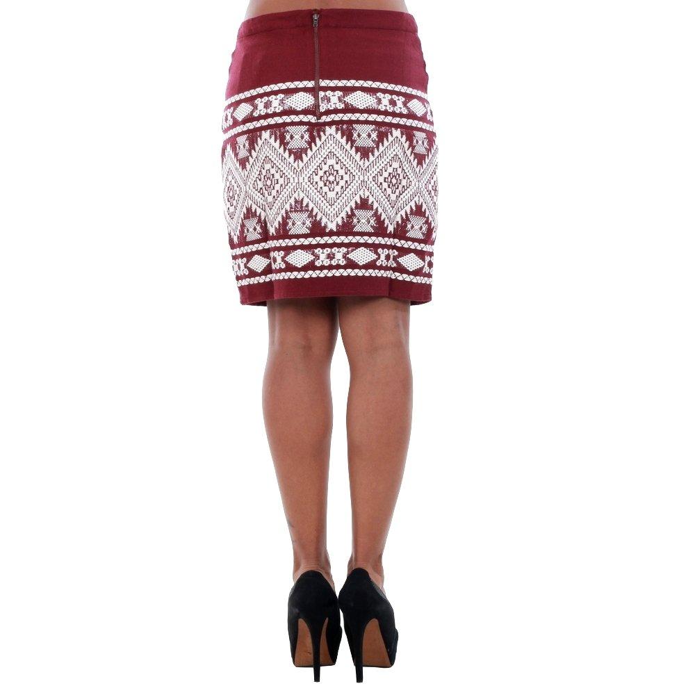 Vero Moda Falda Mujer Burdeos 10166432 VMBLINGY N/W Mini Skirt DNM ...