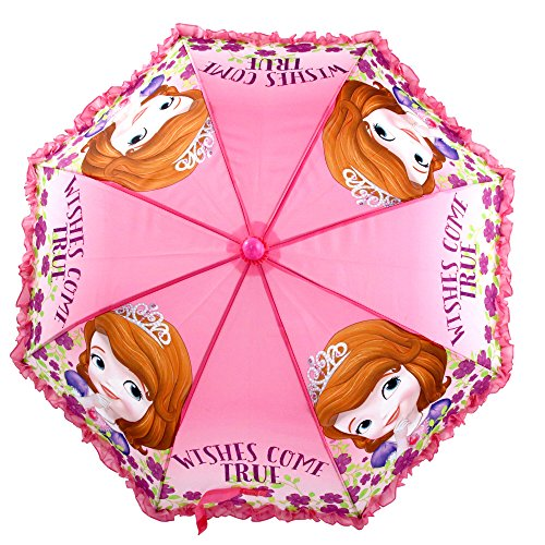 Disney Girls' Little Sofia The First Character Rainwear Umbrella, Pink, Age 3-7 by Disney (Image #5)
