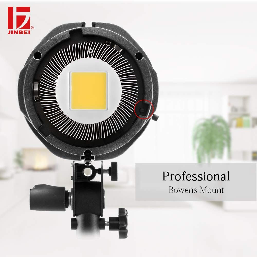 JINBEI EFII-100W 100Ws Dimmable LED Video Light Continuous Lamp with Bowens Mount Daylight Balanced Video Light 5500K for YouTube Vine Portrait Photography Video Lighting Studio Interview