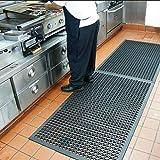 Anti-Fatigue Rubber Floor Mats for Kitchen New Bar Rubber Floor Mats Commercial Heavy Duty floor Mat black 36'' 60''