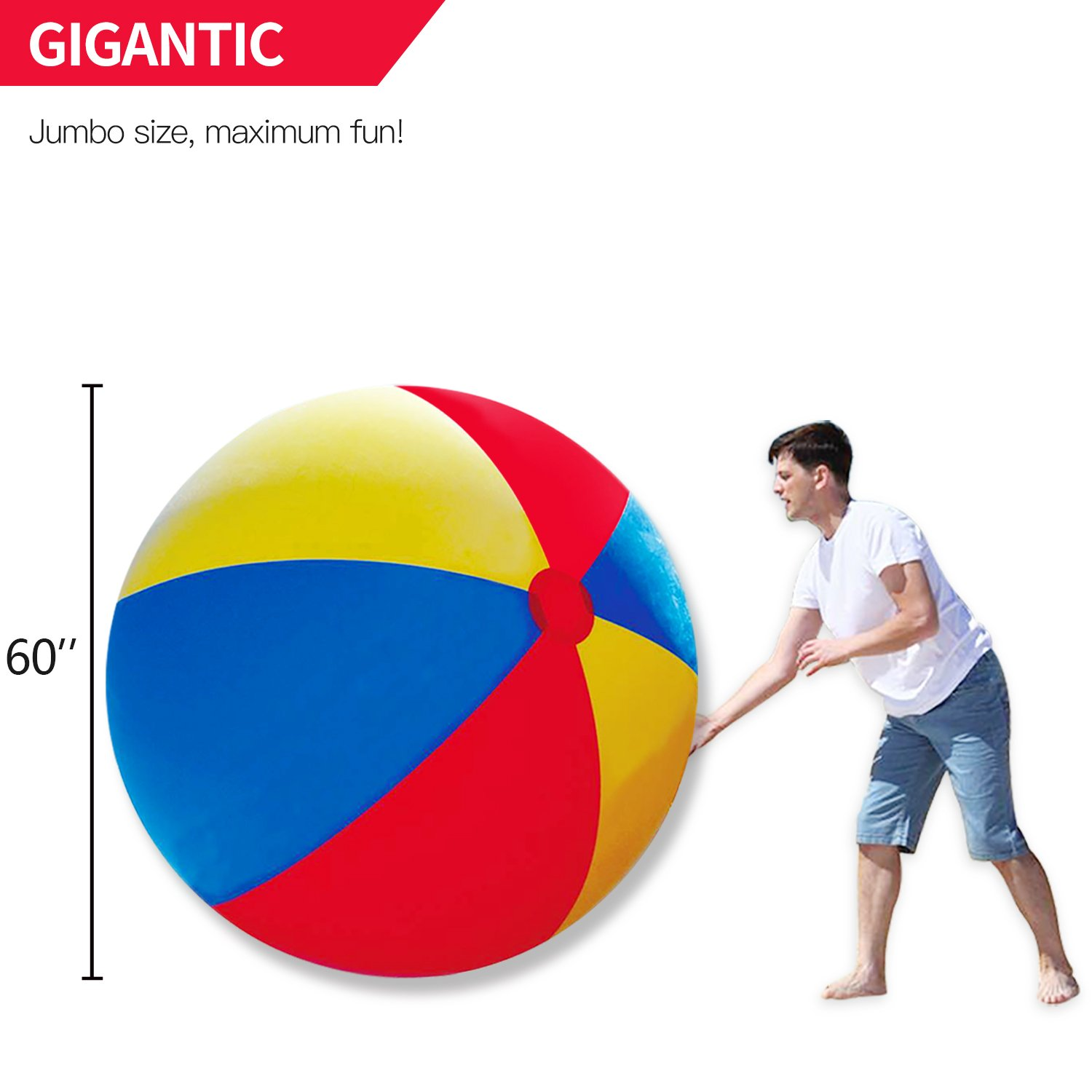Novelty Place Gigante Pelota de Playa Inflable, Juego de Piscina ...