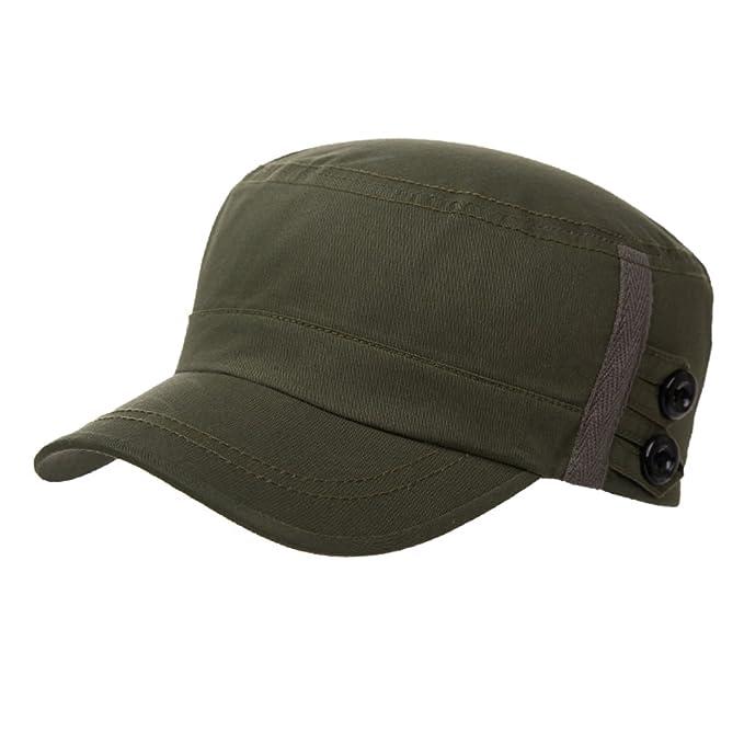 0e32bd91836eb sombrero de los hombres Gorras de béisbol de verano gorra Gorros casuales para  hombres Gorras planas Gorra militar-B  Amazon.es  Ropa y accesorios