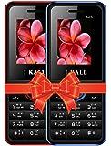 IKALL K24 Dual Sim 4.57 cm (1.8 Inch) Mobile Phone Combo - K24 (Blue & Red)