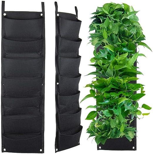 Modaily 7 Jardinera de Pared de Pared Colgante Vertical Planta de jardín Patio de Almacenamiento Decoración para el hogar: Amazon.es: Hogar