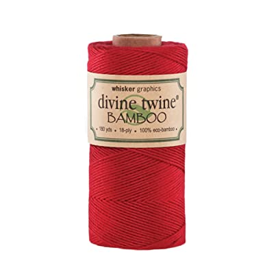 Divine Twine Eco-Bamboo, Solid Red: Arts, Crafts & Sewing