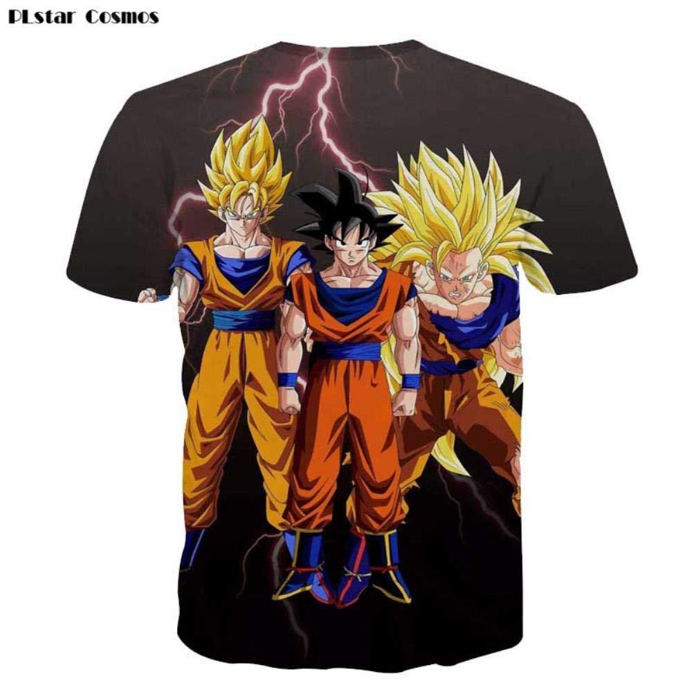 Lklik Naruto Sasuke Ninja T Shirt Hombres 3D Dibujos ...