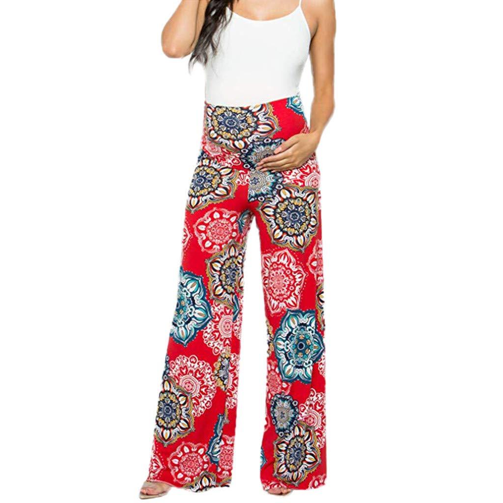 V/êTements Grossesse Et Maternit/é,Yesmile Femmes Maternit/é Floral Pantalon Facile Grossesse Pantalon