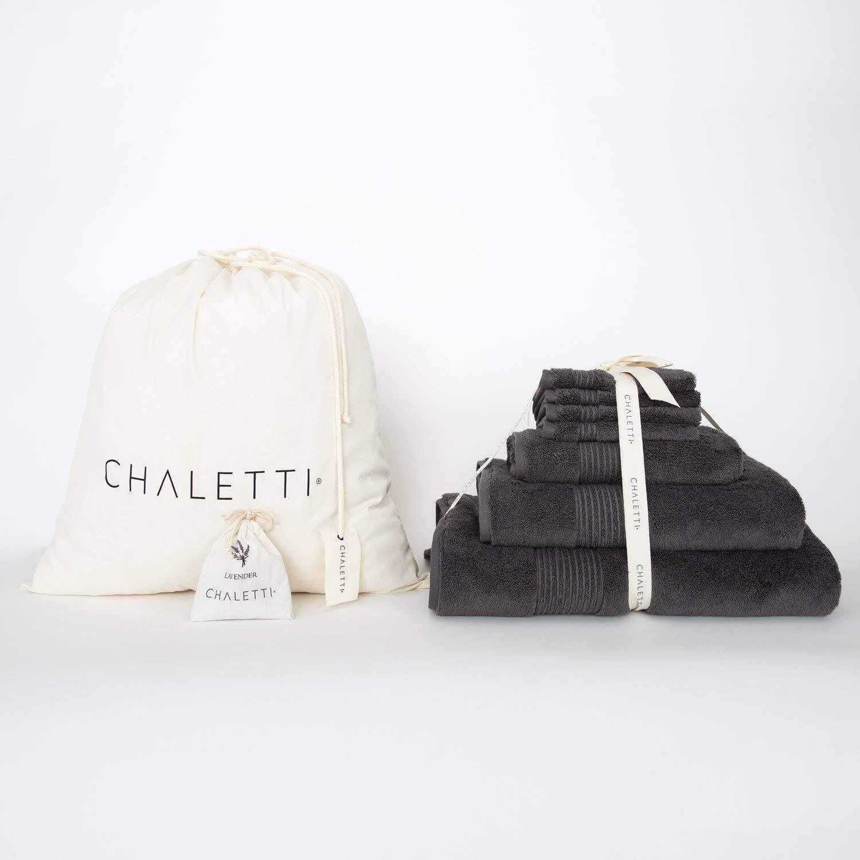 CDM product Chaletti Aspen 7 Piece Turkish Cotton Towel Set Night Gray small thumbnail image