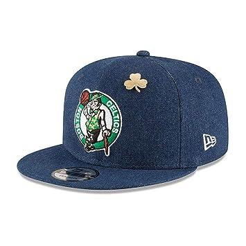 New ERA Boston Celtics 9fifty Adjustable Basketball Snapback Draft  Denim  c768f89fb